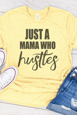 HUSTLER  GRAPHIC T-SHIRT - PALE YELLOW