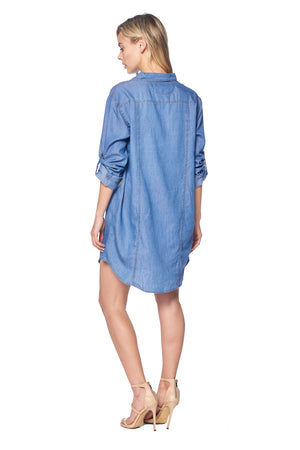 Load image into Gallery viewer, TERRY-LYNN DENIM DRESS
