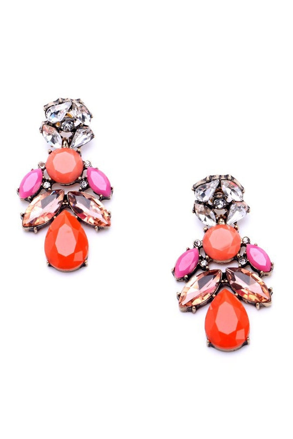 AUDREY MULTICOLOUR DROPLET EARRINGS