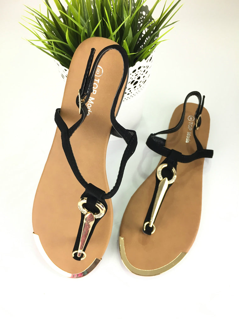 TOYAH SANDALS IN BLACK