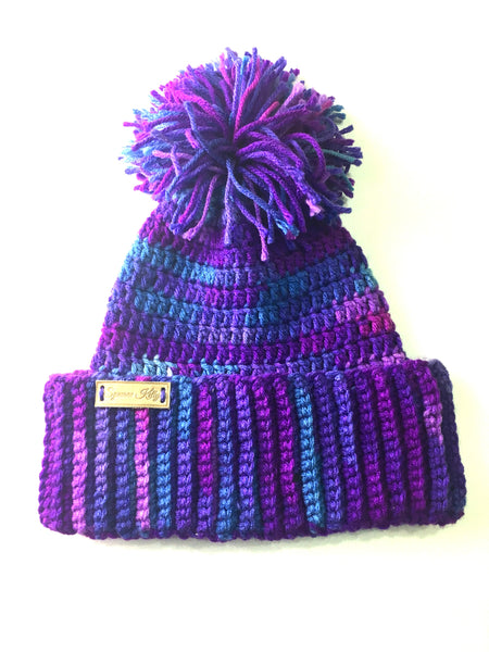 PURPLE UNICORN BEANIE