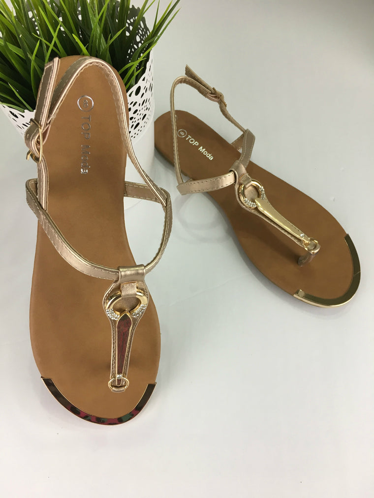 TOYAH SANDALS IN ROSE GOLD
