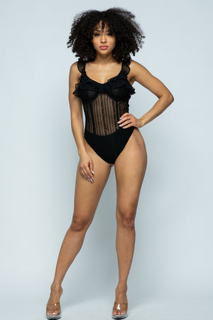 TERRI BLACK BODYSUIT