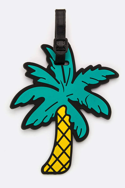 PALM TREE JELLY LUGGAGE TAG