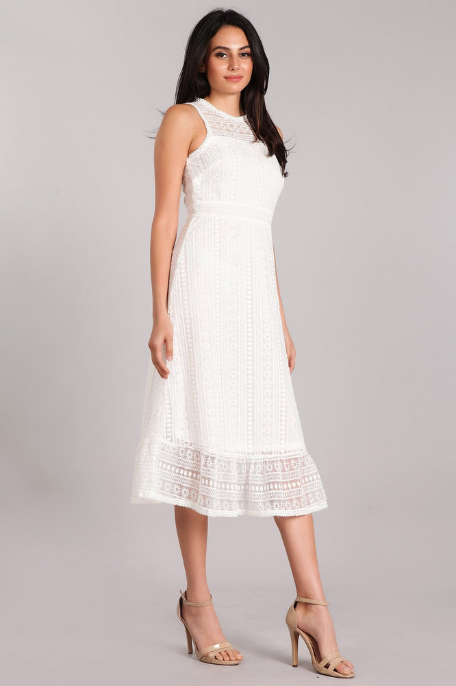 LAYLIN LACE DRESS - WHITE