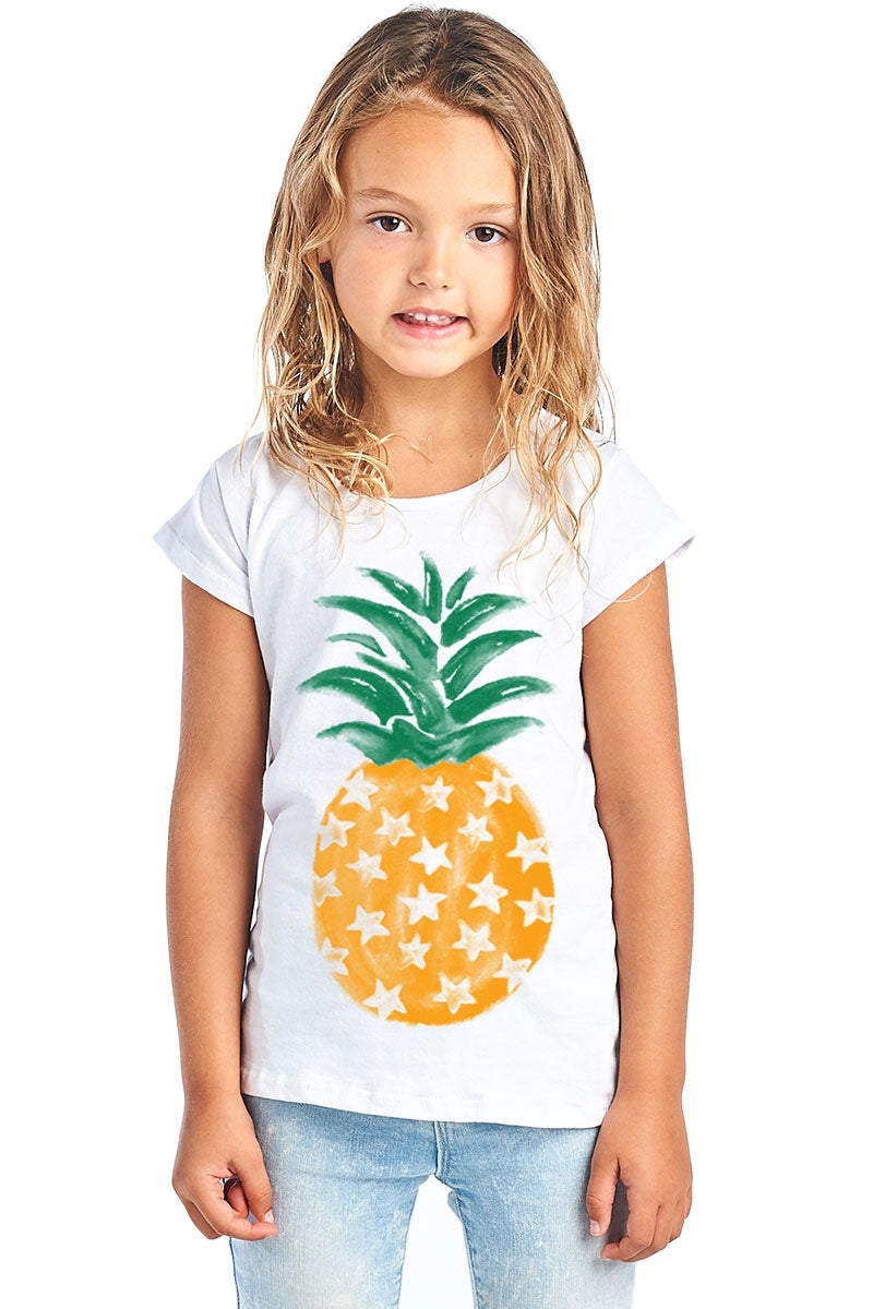 PINEAPPLE GRAPHIC TEE IN WHITE