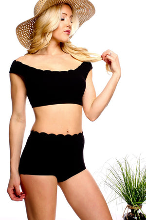 TAMEKA TWO PIECE IN BLACK