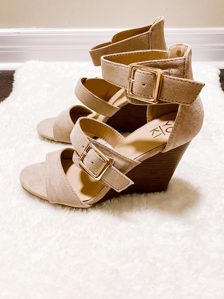 Load image into Gallery viewer, DONYA WEDGE SANDAL