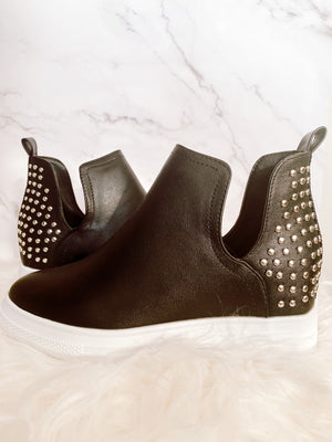 DEMIAN WEDGE SNEAKERS - BLACK