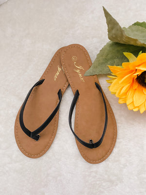 Load image into Gallery viewer, BABE FLIP FLOPS - BLACK