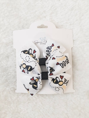 Load image into Gallery viewer, BE MINE DOUBLE BOUTIQUE HAIR BOWS