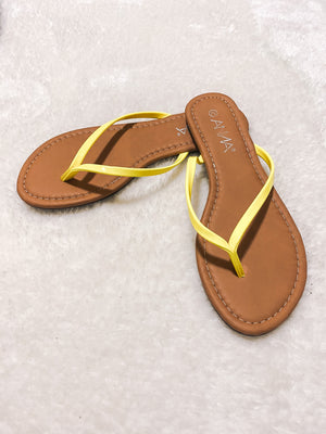 Load image into Gallery viewer, FABY FLIP FLOPS - YELLOW