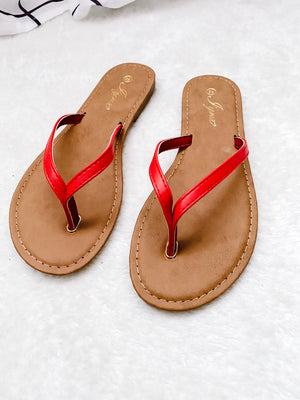 Load image into Gallery viewer, BABE FLIP FLOPS - RED
