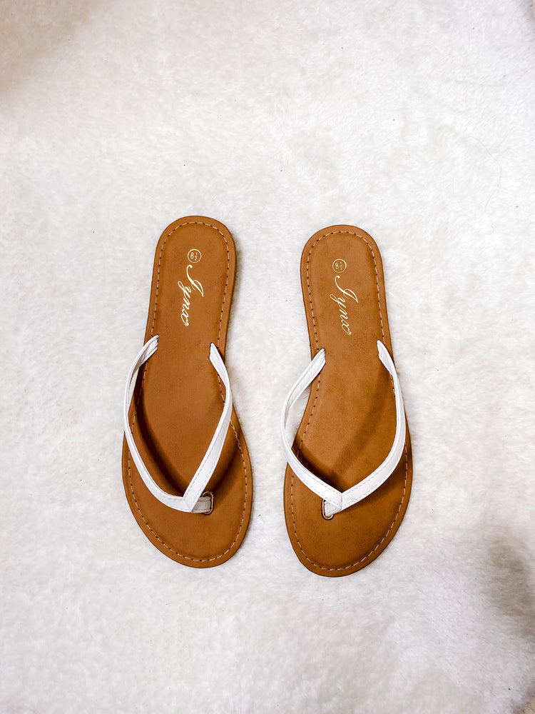 Load image into Gallery viewer, BABE FLIP FLOPS - WHITE