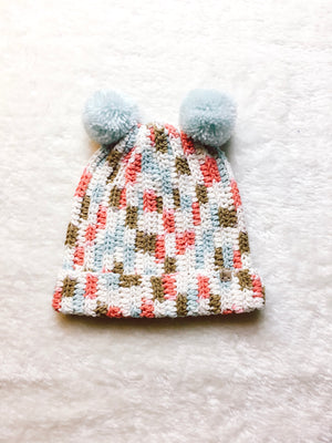 Load image into Gallery viewer, SADA DOUBLE POM BEANIE