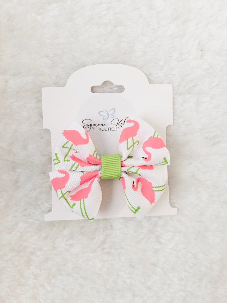 Load image into Gallery viewer, MINI FLAMINGO BOUTIQUE BOW