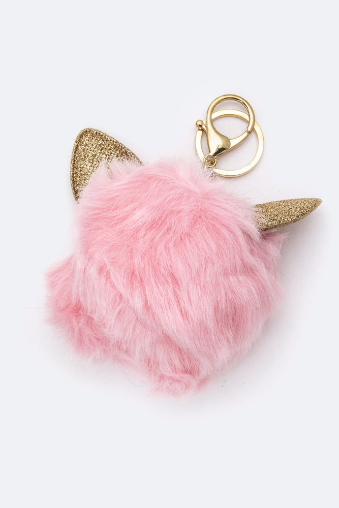 CAT EARS PURSE CHARM IN SOFT PINK