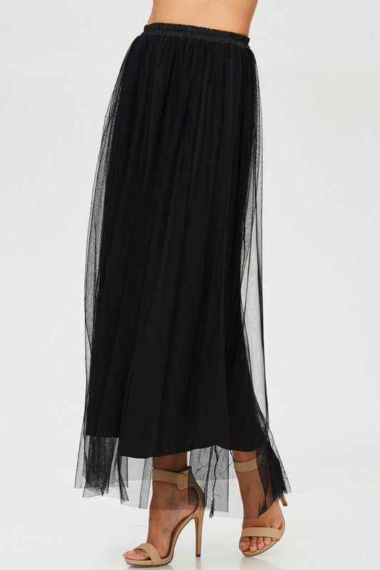 Load image into Gallery viewer, MIDNIGHT MAXI TULLE SHIRT