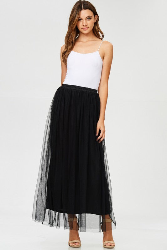 MIDNIGHT MAXI TULLE SHIRT