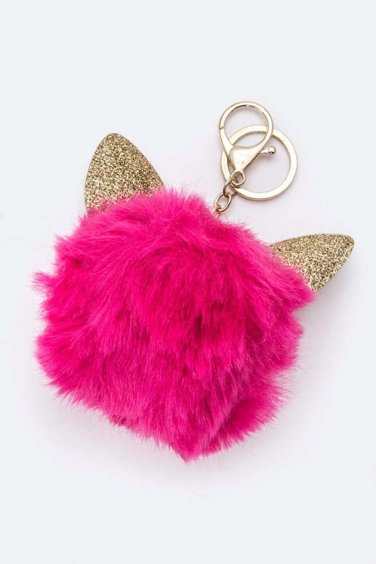 CAT EARS PURSE CHARM IN PINK POP