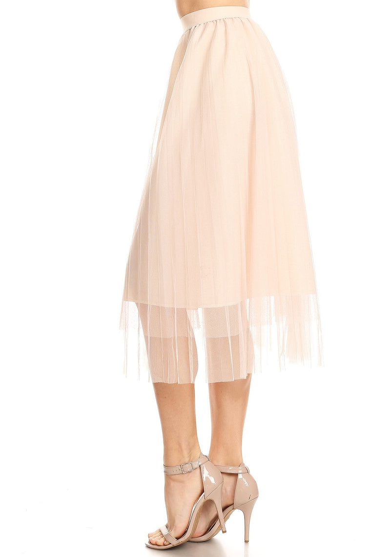 DAISY GIRL MIDI SKIRT IN PINK