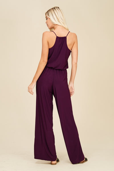 TAKE ME AWAY JUMPSUIT IN PLUM