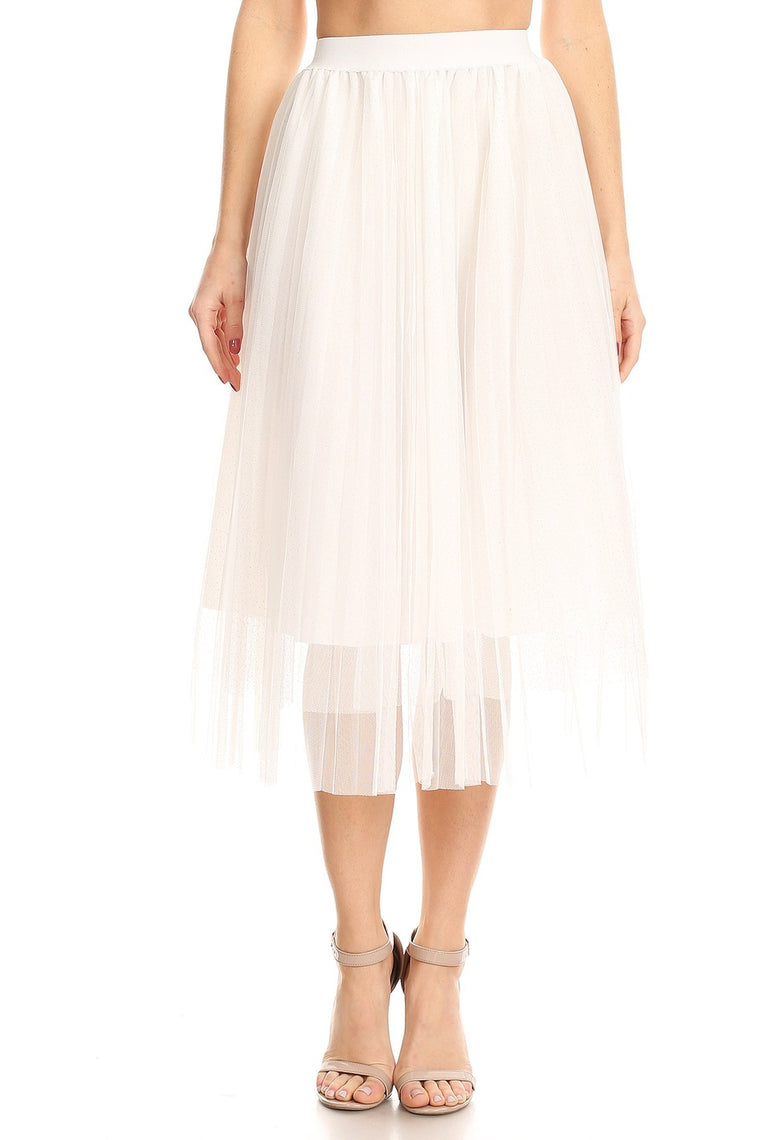 DAISY GIRL MIDI SKIRT IN WHITE