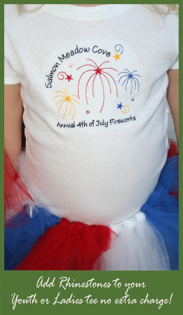 Custom embroidered 4th of July tees
