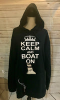 Keep Calm and Boat On Tailgate Hoodie