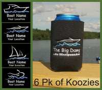 custom embroidered 6pk of can koozies
