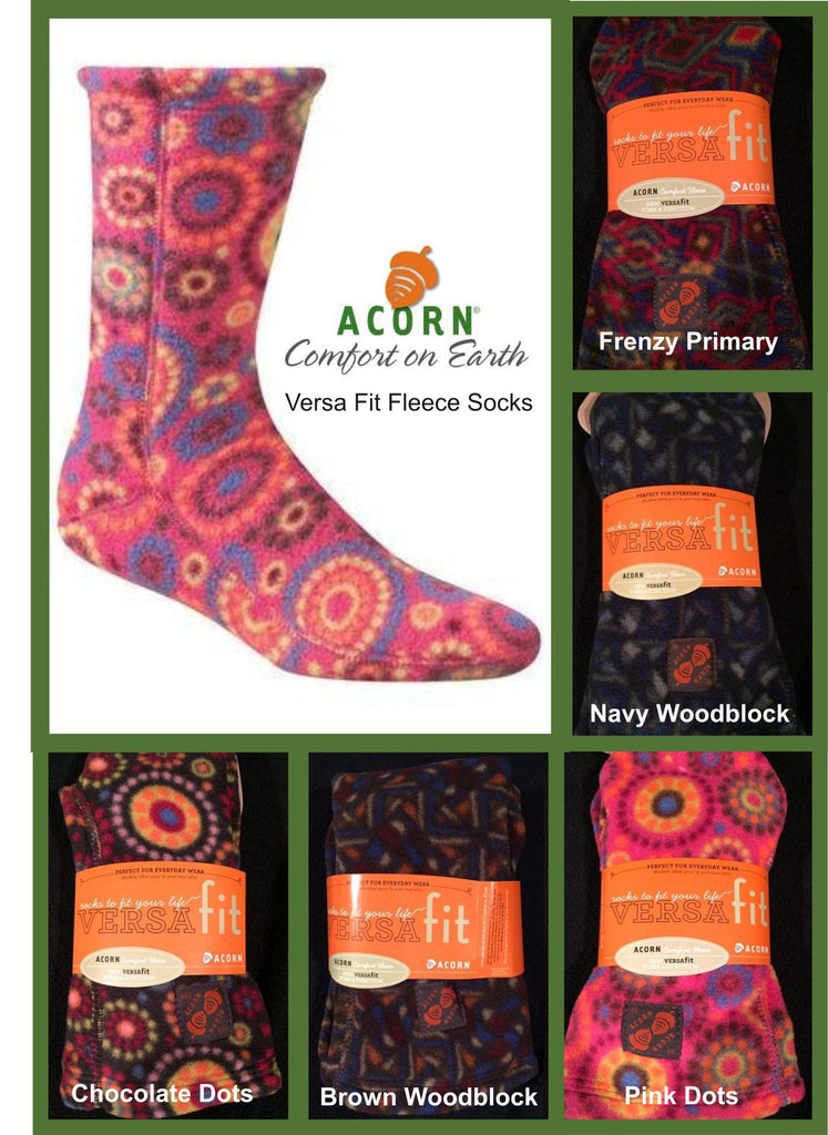 acorn fleece socks