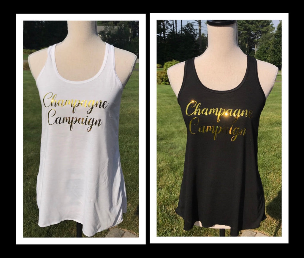Champagne Campaign Bridal Party Tanks