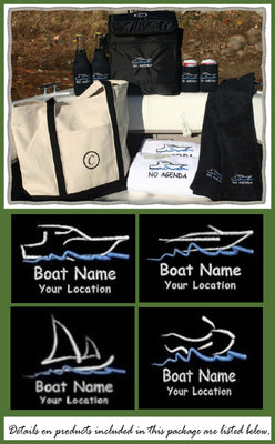 Custom embroidered ultimate boat package