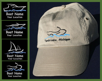 custom embroidered boat baseball cap