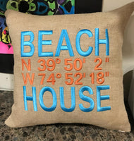 Burlap Pillows - GetawayWear® Inc.