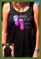 Beach Hair Don't Care Tank - GetawayWear® Inc.