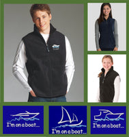 custom embroidered boating vest