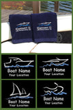 Custom Boat Towels.