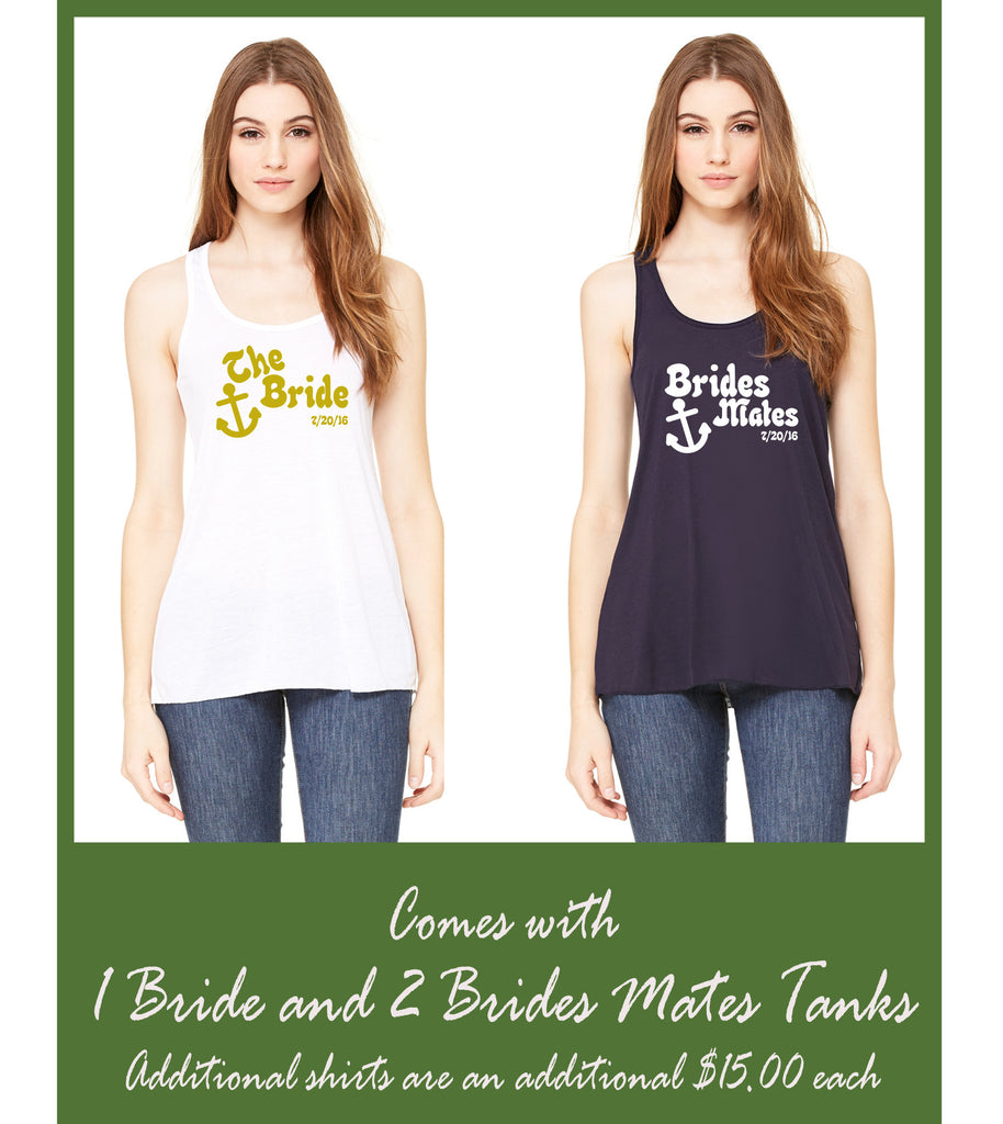 Bride and Brides mates HTV racerback tank package
