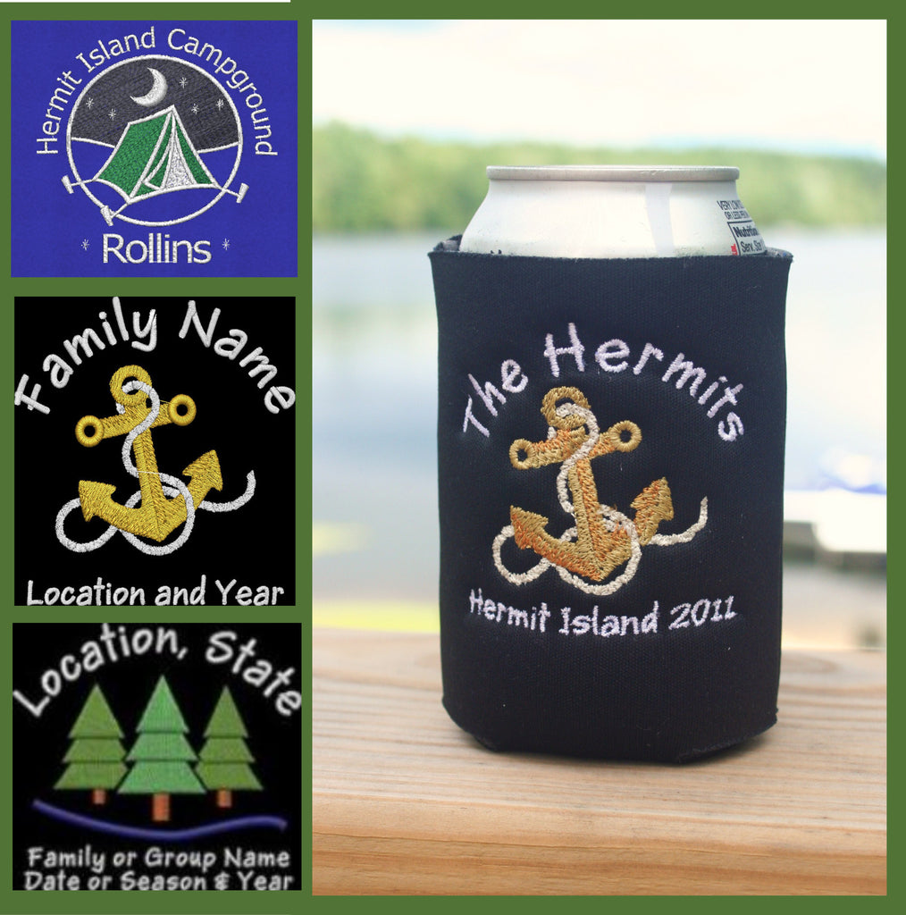 custom embroidered koozies