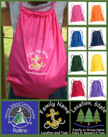 Custom Embroidered Cinch Sack - GetawayWear® Inc.
