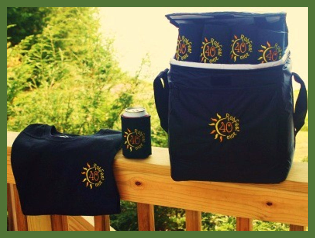 celebration gift pack with tee, koozies and cooler