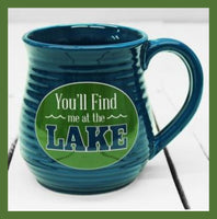 you'll find me at the lake mug