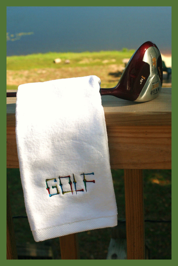 Tri-Fold Velour Golf Towel with Carabiner.