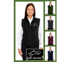 custom fleece vest - got snow?