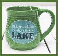 what happens at the lake stoneware mug
