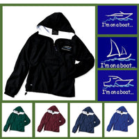 Custom embroidered and personalized boat pullover