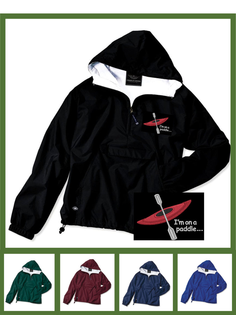 Custom embroidered and personalized kayak pullover