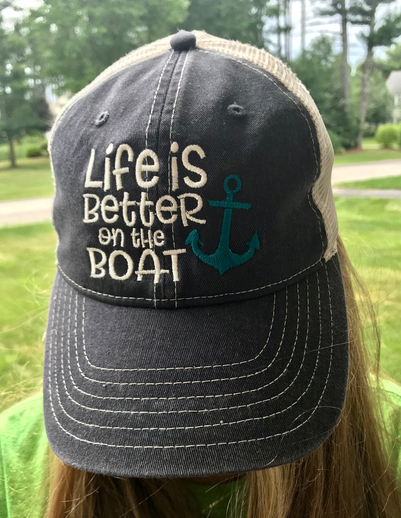 Life Is Better on the Boat Trucker Hat
