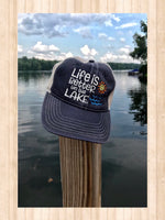 Life Is Better on the Lake Trucker Hat - GetawayWear® Inc.
